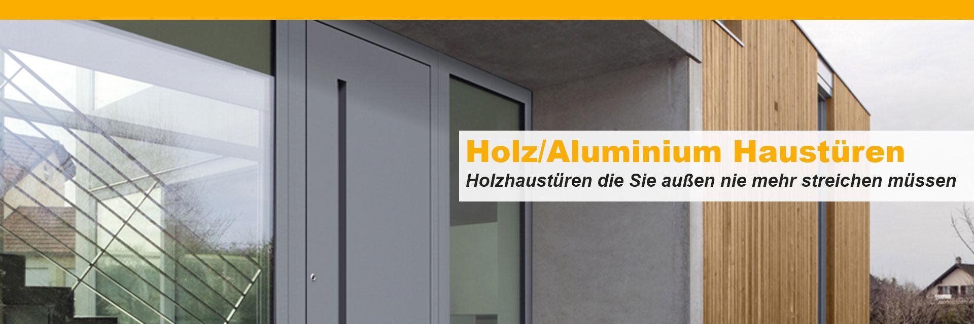 moderne holz aluminium haust ren direkt vom fachbetrieb. Black Bedroom Furniture Sets. Home Design Ideas