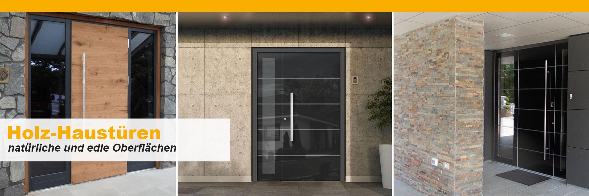 elegante holz haust ren mit schwarzem vetro glas vom. Black Bedroom Furniture Sets. Home Design Ideas