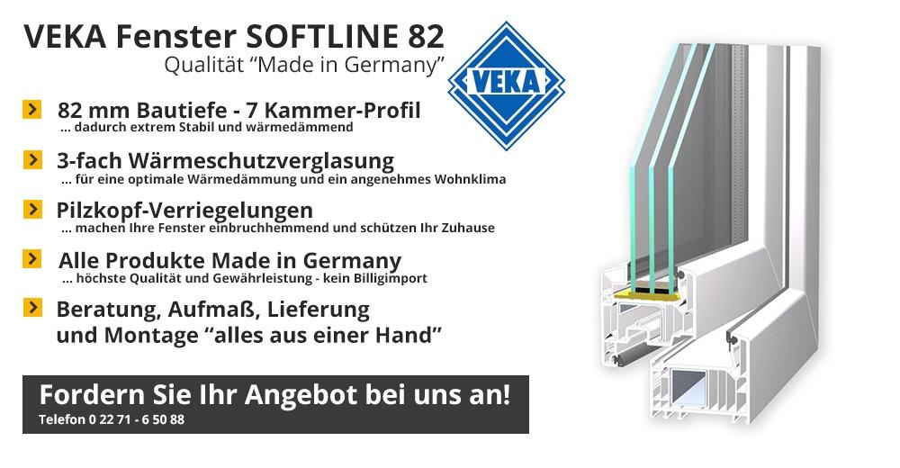 Hervorragend Veka Fenster Softline 82 VP08